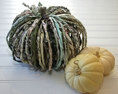 How-to: whimsical rolled paper pumpkins