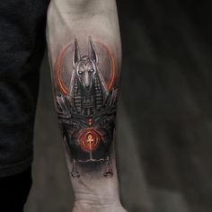 I really adore the colorings, lines, and detail. This really is a fantastic tat. God Tattoos, Badass Tattoos, Skull Tattoos, Body Art Tattoos, Tribal Tattoos, Tattoos For Guys, Sleeve Tattoos, Script Tattoos, Arabic Tattoos