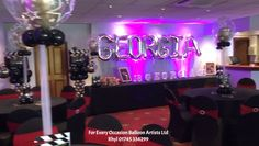 Birthday dinner party balloon decorations centerpieces and balloon strands We have had the pleasure of doing some proms this year. One of the proms that we really enjoyed was a Hollywood Themed Inspired Prom. 18th Birthday Party Themes, Hollywood Birthday Parties, Happy 21st Birthday, Hollywood Sweet 16, Hollywood Theme, Red Carpet Theme Party, Hollywood Decorations, Deco Cinema, Prom Themes