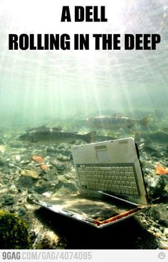 """A Dell rolling in the deep""  Snicker.  I know puns are the lowest form of humor but I can't resist a good one."