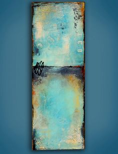SALE..Abstract painting on wood Abstract by erinashleyart