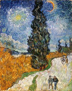 essentz: 1890 Vincent van Gogh (Dutch, 1853-90) ~ Country Road in Provence by Night; Kröller- Müller Museum, Otterloo                                                                                                                                                                          Source:                                                                   narcissusskisses