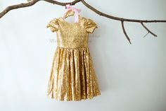Cap Sleeves Champagne Gold Sequin Flower Girl Dress Junior Bridesmaid Wedding Party Dress by MillyWeddingshop on Etsy https://www.etsy.com/listing/262031776/cap-sleeves-champagne-gold-sequin-flower