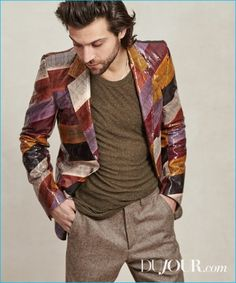 Alexander DiPersia wears t-shirt Alexander Wang, blazer and trousers Roberto Cavalli.