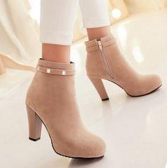 Encontre mais Botas - Feminino Informações sobre 2014 novas mulheres Ankle Boot strass plataformas PU zíper lateral sapatos femininos, de alta qualidade corredores de sapatos, creme da sapata China Fornecedores, Barato peds sapato de Fancy Women's Heels em Aliexpress.com