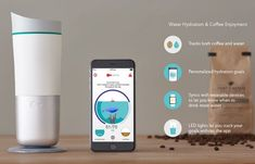 Ozmo Smart Cup Measures Water Intake To Keep You Hydrated - Anyone who would like to track the amount of water or coffee they drink during the day to help keep themselves hydrated and also prevent themselves from consuming too much caffeine maybe interested in a new smart cup has been created by the Groking Lab based in Hong Kong called Ozmo that comes complete with its own smartphone companion applications for both Android and iOS devices. | Geeky Gadgets