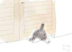 Kitten who has solved half a problem! Cat Diary, Asian Cat, Japanese Cat, Cat Pose, Watercolor Cat, Japan Art, Cat Drawing, Pretty Cats, Art Studios