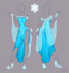 Frozen Elsa - new dress by Tatara94.deviantart.com on @deviantART. Pretty