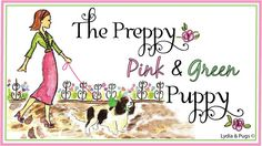 The Preppy Pink and Green Puppy