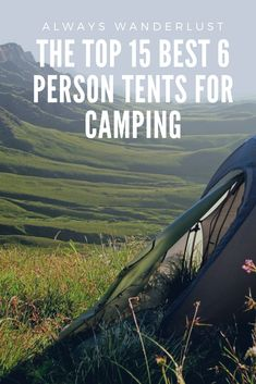 Top 15 Best 6 Person Tents For Camping And How To Choose Looking for a 6 man tent for your next camping trip with your family? We will help you find the best six person tent money can buy right now. Solo Camping, Camping Spots, Camping With Kids, Family Camping, Tent Camping, Camping Gear, Camping Hacks, Outdoor Camping, Glamping