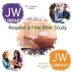 """Request a Free Bible Study  Would you like to learn more about the Bible? If so, take advantage of our free home Bible study course. Request a Bible study by completing the form on JW.org at the bottom of page entitled """"Contact Us""""."""
