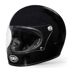 Premier Trophy Helmet - Gloss Black | Full Face Helmets | FREE UK delivery - The Cafe Racer
