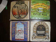 More Than Rubies | Beer Label Coasters Tutorial