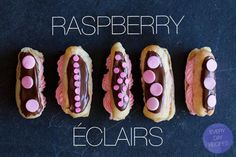 Raspberry Eclairs - these are just gorgeous!