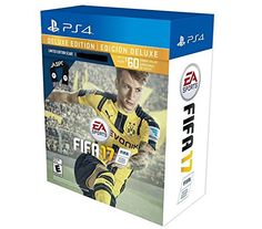 Here is the FIFA 17 Deluxe Edition with an EA Sports Scarf.