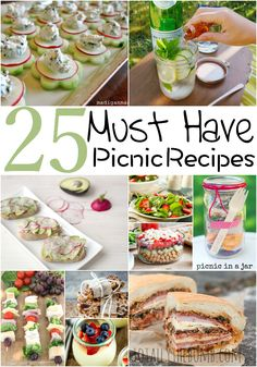 Summertime is built for picnics and these 25 Must Have Picnic Recipes will become your new picnic favorites! You can find some easy snack ideas for picnics or even some picnic finger foods. Save this pin for amazing picnic food suggestions! Romantic Picnic Food, Picnic Date Food, Beach Picnic Foods, Picnic Finger Foods, Healthy Picnic Foods, Picnic Menu, Picnic Lunches, Picnic Parties, Picnic Lunch Ideas
