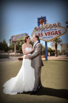 Love at the Las Vegas Sign by Cashman Brothers Fine Photography, Las Vegas, Nevada Nevada, Las Vegas Sign, Mermaid Wedding, Wedding Dresses, Fun, Photography, Fashion, Bride Dresses, Moda
