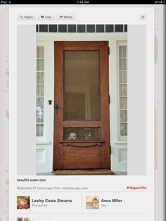 Great screen door.