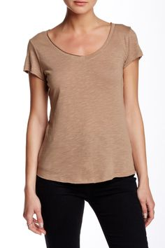 Short Sleeve V-Neck Tee (Petite) by 14th & Union on @nordstrom_rack