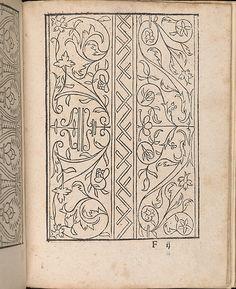 New Modelbüch allen Nägerin u. Sydenstickern (Page 23r).  Hans Hoffmann.  1556.