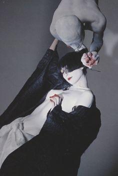 Anime Couples Drawings, Couple Drawings, Vogue Photography, Yamaguchi, Japanese Models, Retro Aesthetic, Vintage Japanese, Portrait, Art Reference