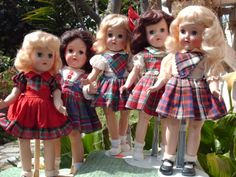 You'll often find Toni dolls in plaid as plaid was popular in girl's dresses in the late 1940s, early 1950s.