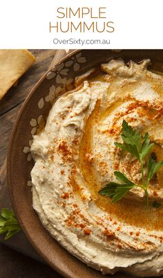 Simple Hummus Recipe - once you've mastered this recipe (it's really not difficult at all), you can begin to experiment with flavours and garnishes. Perhaps you'll try some chilli flakes, or different spices on top. Let your imagination run wild.