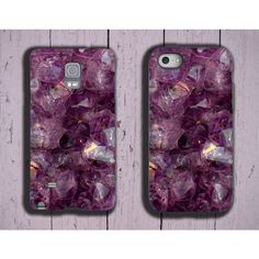 Amethyst iPhone 7 iPhone SE iPhone 6s purple crystal iPhone 5S violet... ($20) ❤ liked on Polyvore featuring accessories, tech accessories and samsung