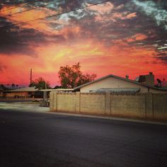 The Arizona heat is shown in this flaming sunset