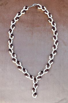 Berries Necklace from Beads Magic.  Schema.  #Seed #Bead #Tutorials