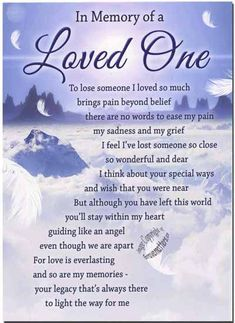 Loving Memories of Loved Ones | Loved one... In Loving Memory of Cindy's 3rd Death ... | Favorite Quo ...