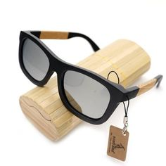 1af1361fbefbd Wooden Square Style Sunglasses + Wood Gift Box - Green