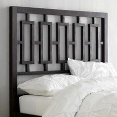 Window Headboard in Chocolate from west elm