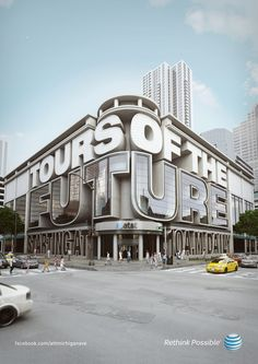 AT&T Tours of the future in Crazy Typography by Chris LaBrooy
