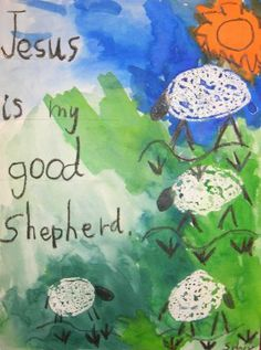 My Good Shepherd | TeachKidsArt  For complete instructions on how to create this watercolor sheep painting, go to:  http://www.teachkidsart.net/my-good-shepherd/