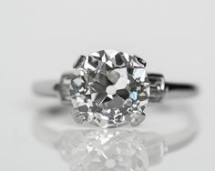 Circa 1920s Platinum Art Deco 3.04ct GIA by VermaEstateJewels
