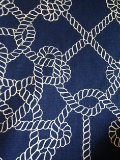 Navy Nautical Fabric: Special Order Only