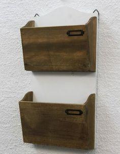 Wandregal Zeitungsständer 12272 Regal 45cm Shabby Küchenregal Zeitungshalter | eBay