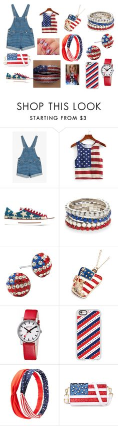 """""""AMERICA"""" by pinksavon on Polyvore featuring Monki, Valentino, Red Camel, Chicnova Fashion, Mondaine, Casetify and Charlotte Russe"""