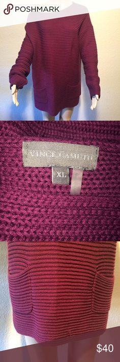 Vince Camuto XL chunky sweater dark purple winter Good condition Vince Camuto sweater XL Vince Camuto Sweaters Crew & Scoop Necks