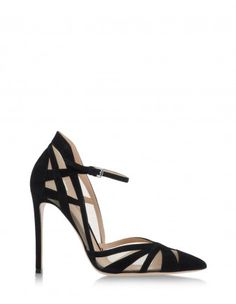 Gianvito Rossi Suede & Mesh Ankle-Strap Pump - Shop more essentials you can wear year-round: http://shop.harpersbazaar.com/trends/the-shopping-list-1