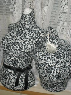 Paris Black Damask Dress Form with stand and by CoutureMarketProps