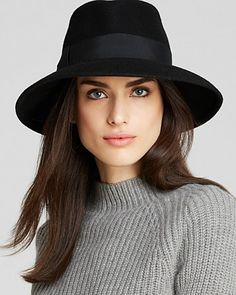 Eric Javits Women Kim Wool Fedora: One Size : Black Stylish Hats, Love Hat, Black Wool, Headdress, Style Me, Style Inspiration, Poses, Clothes, Accessories