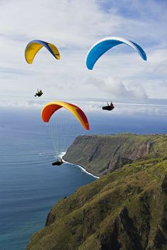 Paragliding in Madeira, Portugal