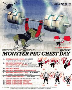 Monster Pec Chest Day - Increase Your Bench With This Chest Workout #chest… More