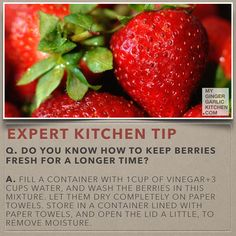 How to keep berries fresh for a longer time.  cooking-tips-my-anupama-paliwal-kitchen-62
