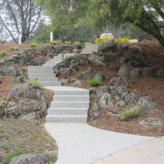 Hillside walkway