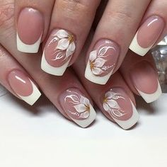 Manucure - Manucure The Effective Pictures We Offer You About diy A quality picture can tell you many things. French Nail Designs, Beautiful Nail Designs, Beautiful Nail Art, Nail Art Designs, French Nails, Cute Nails, Pretty Nails, Bride Nails, Nagellack Trends