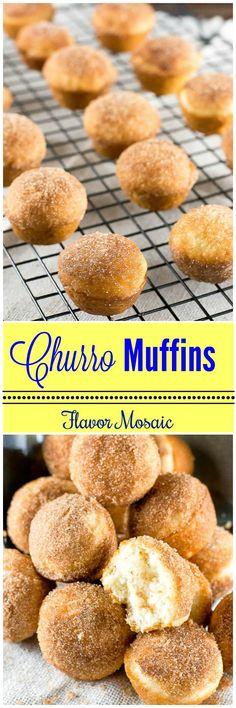 CHURRO MUFFINS transform a sweet cinnamon sugar Mexican dessert into bite-sized mini muffins that are perfect for breakfast or dessert. via @flavormosaic