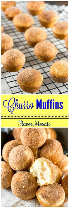 CHURRO MUFFINS transform a sweet cinnamon sugar Mexican dessert into bite-sized…